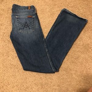 7 for all Mankind Bootcut A pocket jeans